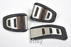 AUDI A4 B8 A5 Q5 Pedalkappen Satz Edelstahl Pedalset ORIGINAL OEM 2008-2012