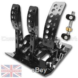 FITS BMW E30 Remote Hydraulic Floor Mounted CABLE CLUTCH Pedal Box + BAR
