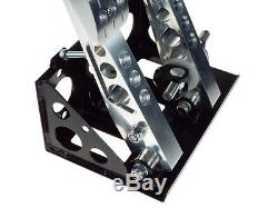 OBP Universal Floor Mounted 2 Pedal Bulkhead Fit Hydraulic Clutch Pedal Box OBP0