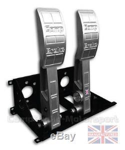 PREMIER Floor Mounted 2 Pedal Bulkhead Fit Hydraulic Clutch Pedal Box Race