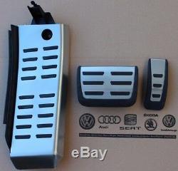 Audi Rs6 4f Originale A6 S6 Pedale Jeu De Pédales C6 Pedalkappen Fußstütze Repose-pieds