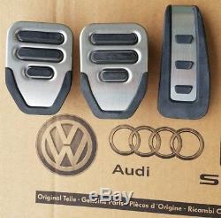 Audi Rs6 4f Originale Pedale A6 S6 C6, Plus Rhd Droite Tapis De Pédales D'entraînement Main Casquettes