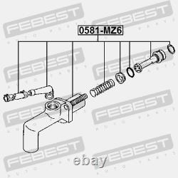 Lot Of 30 New Febest 0581-mz6 Clutch Master Cylinder
