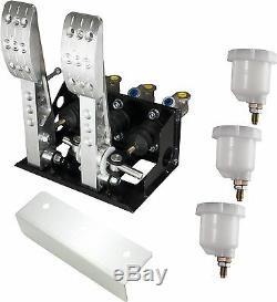 Monté Au Sol 2 Pédale D'embrayage Hydraulique Fit Bulkhead Pédale Box Race Obp0164pr V2