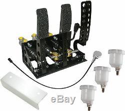 Universal Montage Au Sol Fit Hyd D'embrayage Bulkhead Course Boîte Pédale Argent Kit Obpvic02